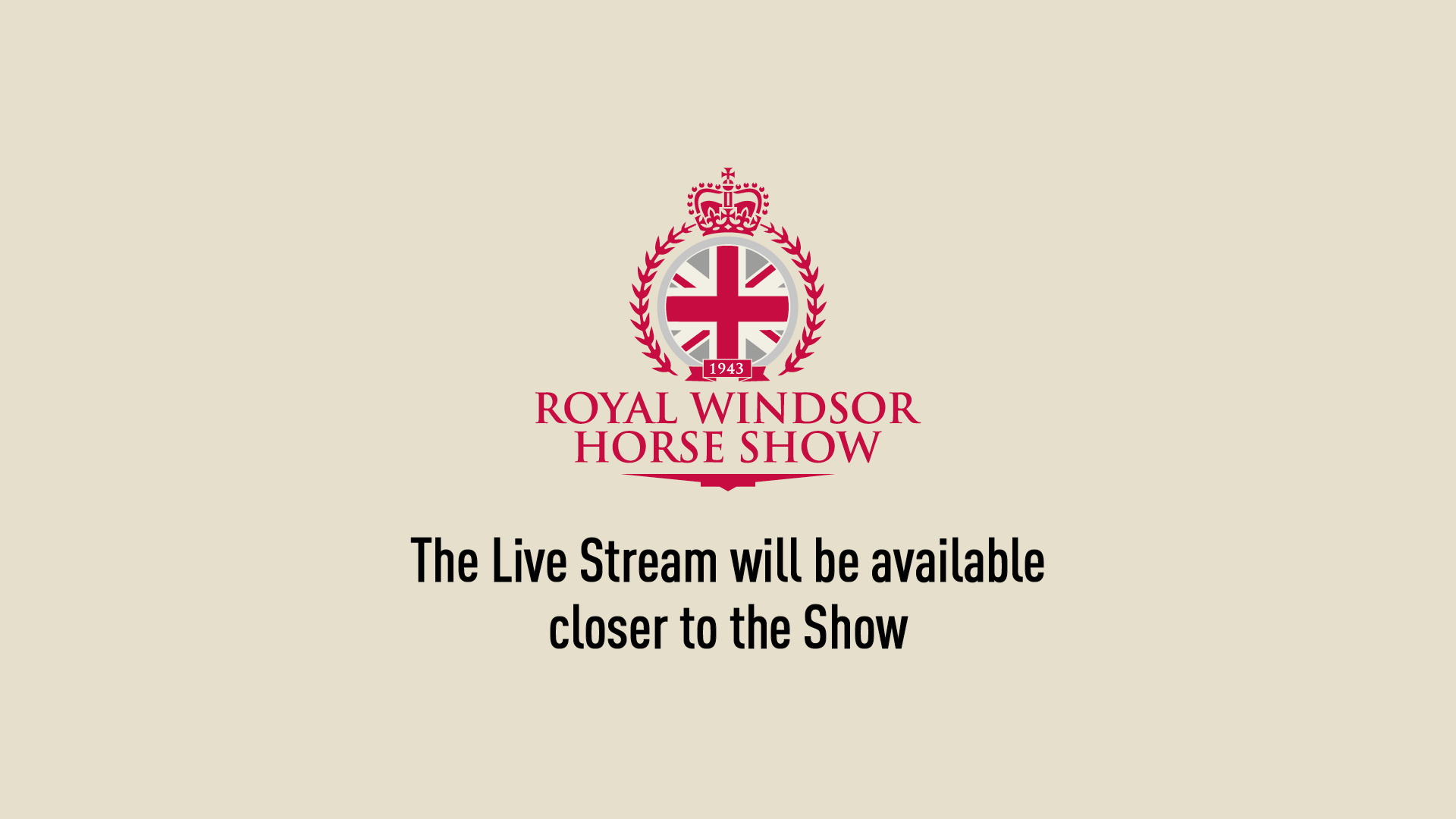 RWHS Live Stream Holding Page